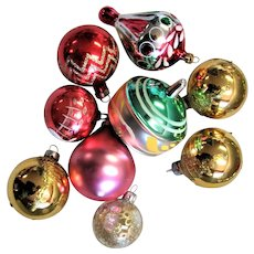 Hand Blown Mercury Glass Ornaments