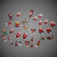 Large Group Of Doll House Christmas Decorations