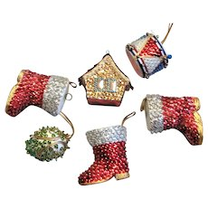 Hand Made Christmas Sequin Ornaments