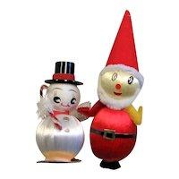 Two Spun Cotton Christmas Decorations