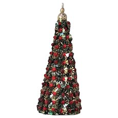 Lovely Sequin Encrusted Christmas Tree Ornament