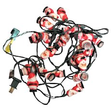 Working Electric Red & White Santa Christmas Lights