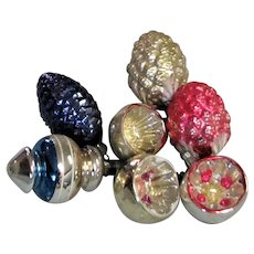 Various Shaped Imported Mercury Glass Ornaments