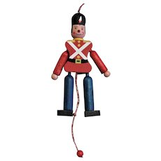 Toy Movable Wooden Soldier Ornament