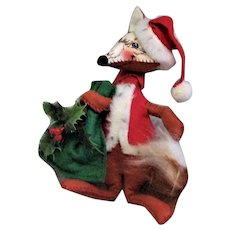 """7"""" Annalee Red Fox Christmas Decoration"""