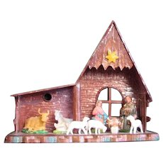Mid Century Plastic Nativity Piece
