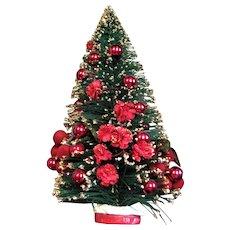 Decorated Christmas Bottle Brush Tree