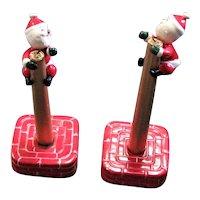 Christmas Santa Candle Huggers & Stands