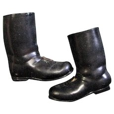 Black Plastic Christmas Santa Boots