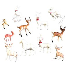 Combination Of Different Styles Reindeer & Sheep