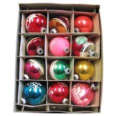 Box Of Shiny Bright Mix Glass Ornaments