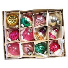 Box Of Mercury Glass Ornaments