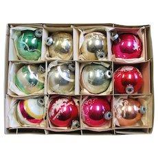 Vintage Mercury Glass Shiny Bright Ornaments