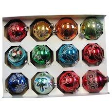 Box Of West German Mercury Glass Ornaments