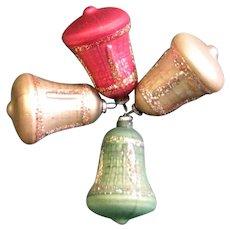 Vintage Mercury Glass Bell Ornaments