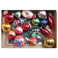 Vintage Mercury Glass & Glass Ornaments