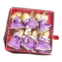 Unused Box Of Purple Christmas Angels