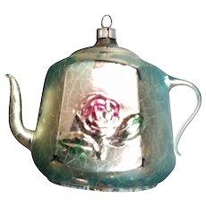 Christmas Mercury Glass Tea Pot Ornament
