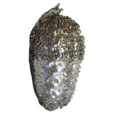 Silver Mercury Glass Ornament With Aluminum Mesh