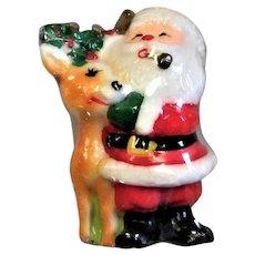 Jolly Santa Christmas Candle