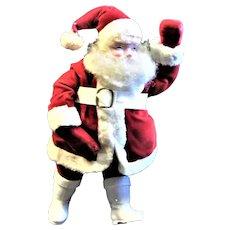 Straw Stuffed Santa In Red Velvet