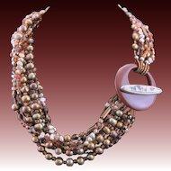 Designer Made OOAK Multi Strand Necklace