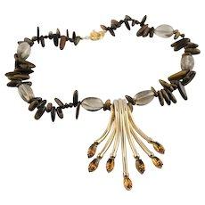 Remake Of A Spectacular Napier Pendant & Semi Precious Gem Necklace