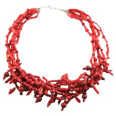 Wonderful Four Strand Coral Necklace