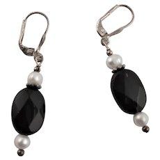 Smokey Quartz Cultured Pearl Earrings
