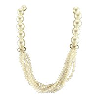 White Freshwater Pearls Wedding Necklace