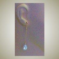 Designer Made Gold Filled & Carved Mother Of Pearl Leaf Earrings