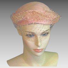 Vintage Richard Original Pink Felt Mid Century Wool Hat.