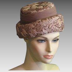 Pretty Vintage 1960's Summer Straw Hat