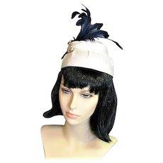 Fun White Straw Vintage Hat