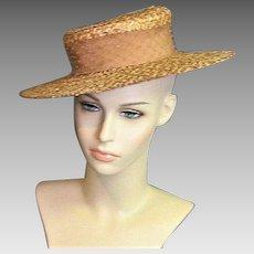 Vintage 1920's Natural Straw Hat