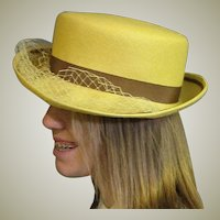 Little Yellow Summer Straw Hat