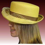 Little Yellow Summer Straw Hat