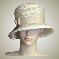 Lovely Summer Straw Bucket Church Hat
