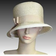 Lovely Summer Straw Bucket Church Hat