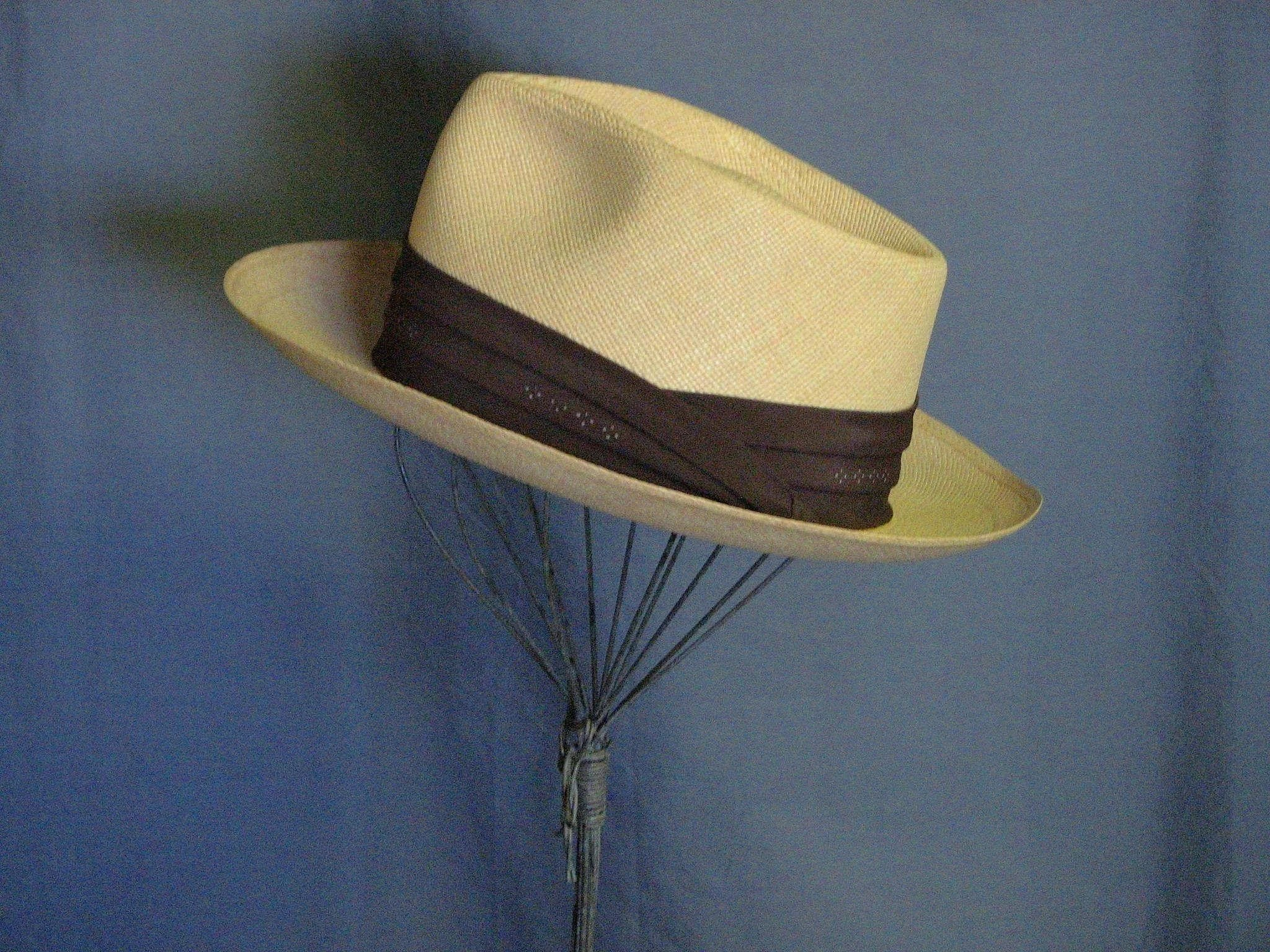 b2062e990f434 Mens Vintage Panama Straw Stetson Hat. Click to expand