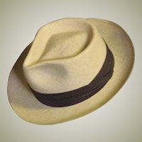 Mens Vintage Panama Straw Stetson Hat