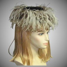 Amazing Ostrich Feather Circling Silk Hat