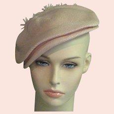 Fabulous Pink Fine Straw & Flower Hat