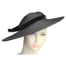 Spectacular 20's Pancake Black Straw Hat