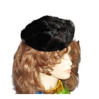 Fun Vintage Mink Tail Hat