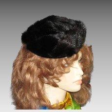 Fun Vintage Mink Tail Hat