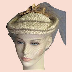 Charming 1940's Straw Hat