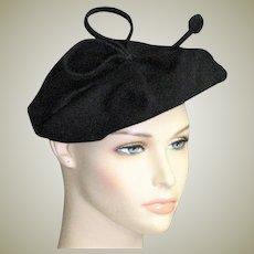 Black Wool '30's-'40's Hat