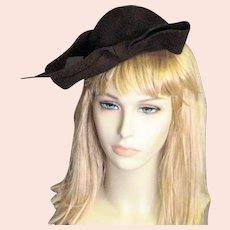 Smashing Brown Wool Felt Designer Chapeau
