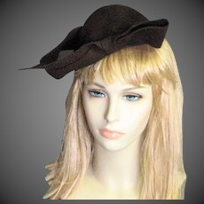 Smashing Brown Wool Chapeau